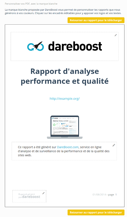 Export de PDF sous marque blanche