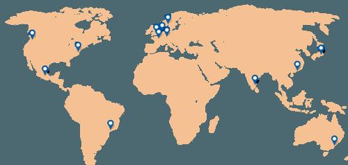 localisations des sondes de test