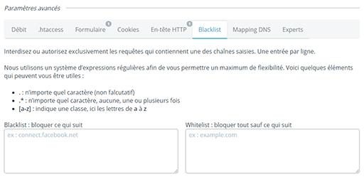 bloquer des ressources avec une blocklist